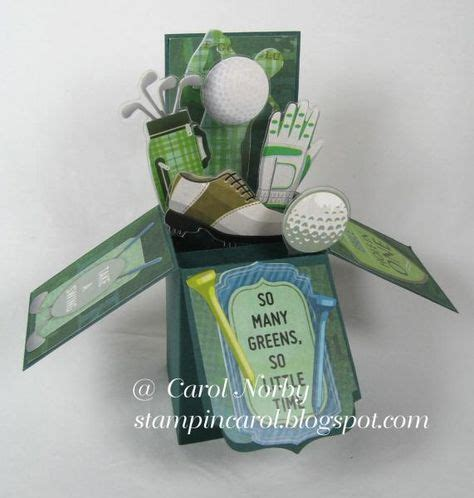 anniversary card golf template golf fanatic pop up box card by angelcarol cards and