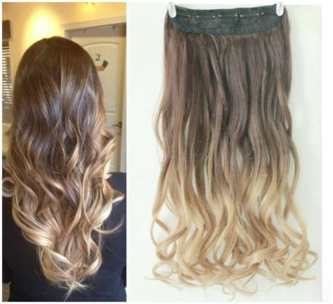blonde ombre hair weave new hot fashion clip in on ombre hair extensions synthetic