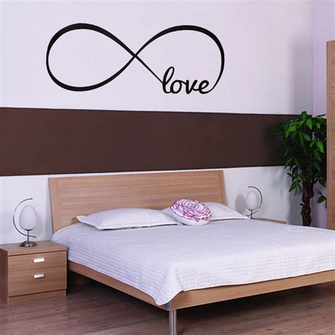word wall stickers for bedrooms personalized bedroom wall decals wall stickers bedroom decor infinity symbol word love