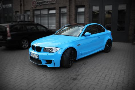 1er bmw matt schwarz bmw 1er m coup 201 in light blue mit schwarz matten extras