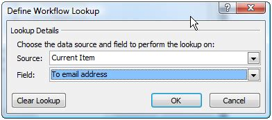 define workflow lookup using sharepoint instead of email attachments todd