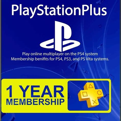 1 Year Membership 1 year 12 month sony playstation plus membership subscription for ps3 ps4 ebay