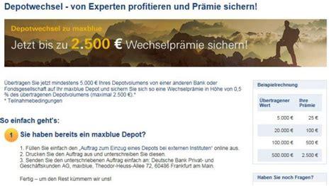 deutsche bank maxblue deutsche bank maxblue depot freebuy onvista