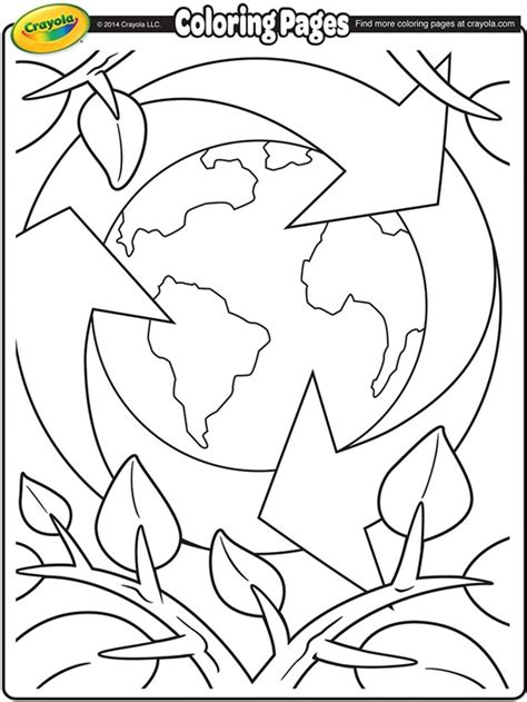 earth day coloring pages earth day recycling coloring page crayola