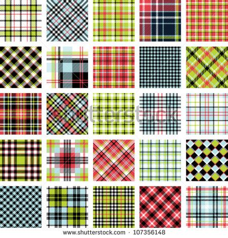 plaid pattern en espanol big plaid pattern set stock vector 107356148 shutterstock