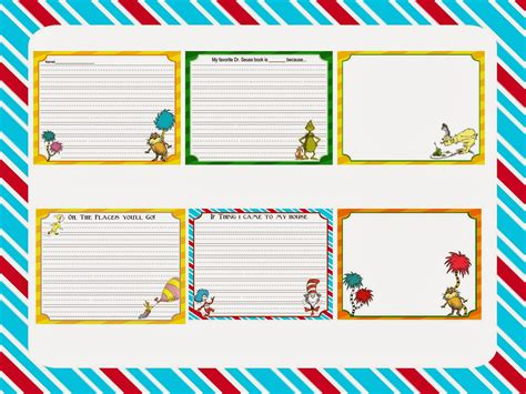 Dr Seuss Essay by Scrap N Teach