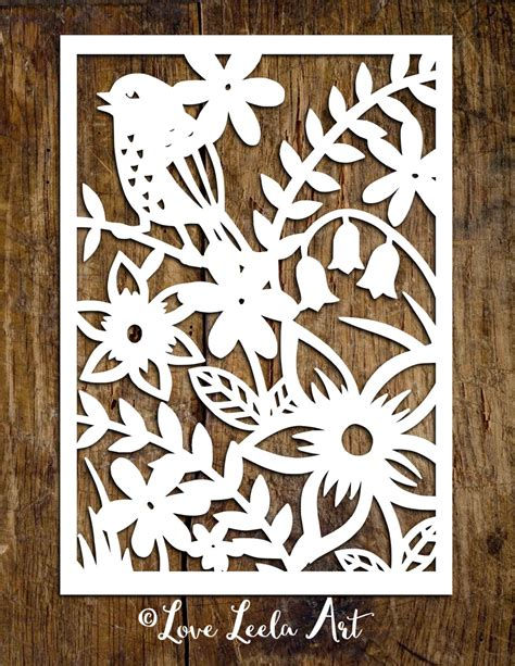 paper cutting design templates personal use papercutting template flower garden paper cut