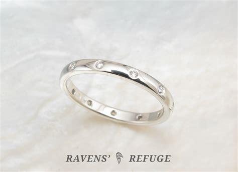 Handmade Eternity Rings - platinum eternity ring with flush set diamonds handmade
