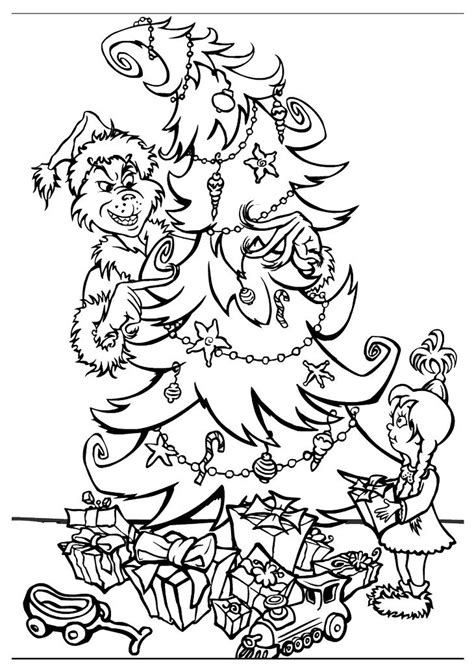 Grinch Tree Coloring Page