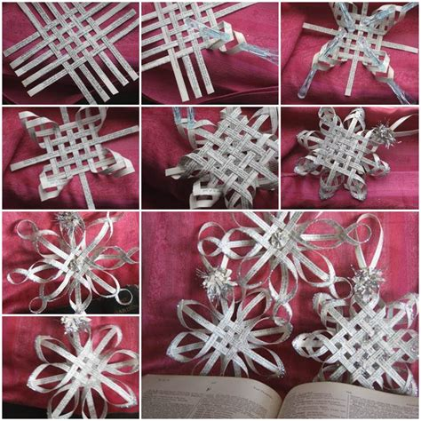 diy decorations paper snowflakes creative ideas diy woven paper snowflake ornaments