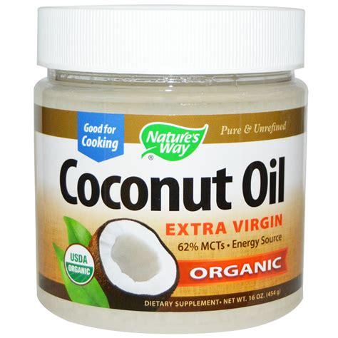 coconut oil nature s way organic coconut oil 16 oz 454 g iherb com