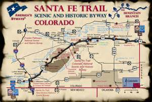 santa fe trail colorado springs map map of on the santa fe trail scenic and historic