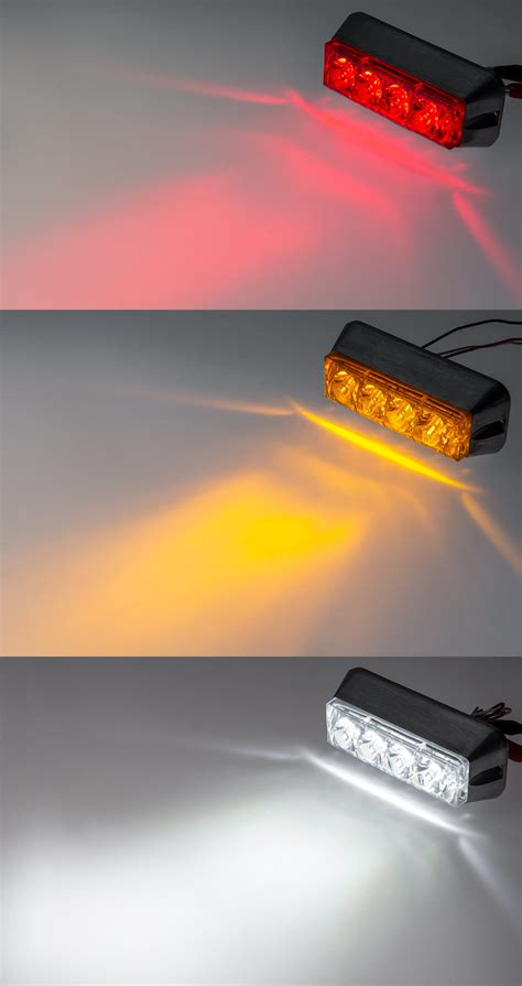 Led Flash Light Strobo vehicle strobe light w built in controller 4 watt surface mount mini strobe lights