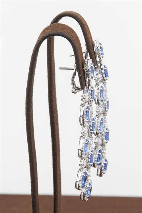 sapphire chandelier earrings classic sapphire chandelier earrings for sale at