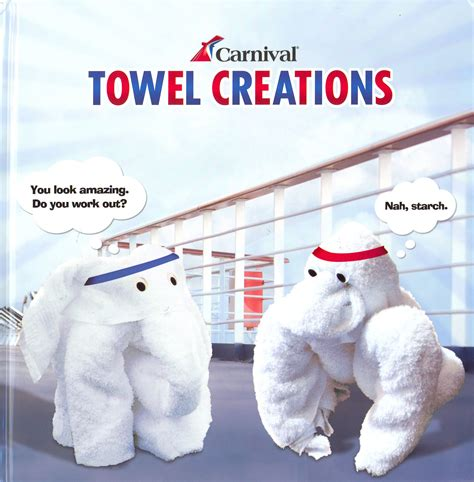 Towel Origami Book - carnival cruise line news
