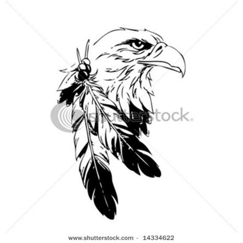 drawn feather native american pencil and in color drawn