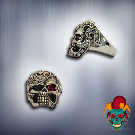 tattoo parlor earrings moody silver skull ring village tattoo nyc
