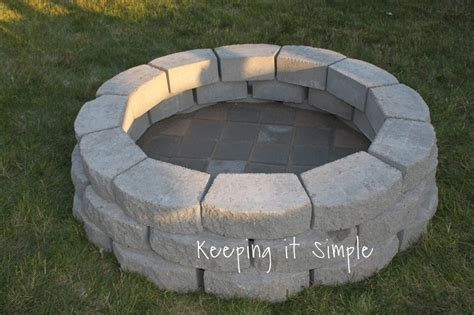 How To Build A Diy Fire Pit For Only 60 Keeping It How To Make A Simple Pit In Your Backyard