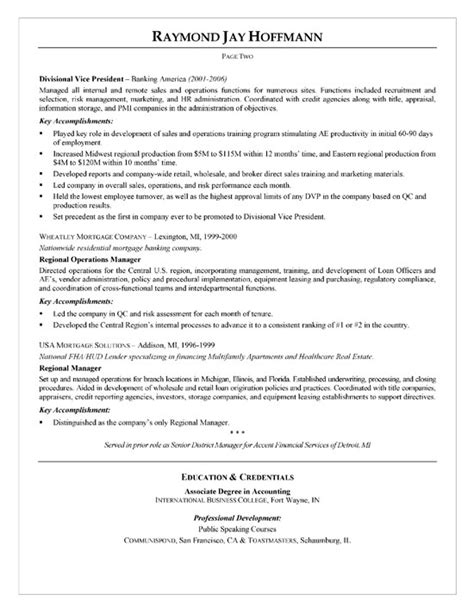 mortgage banker resume exle