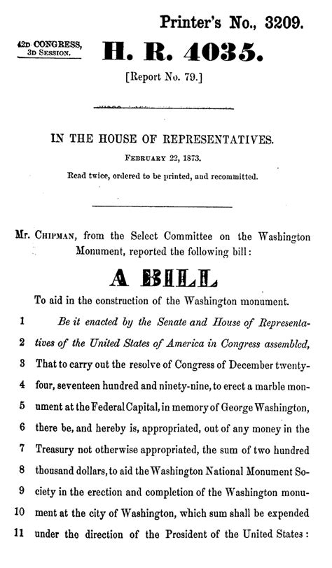 congress bill template the source monuments