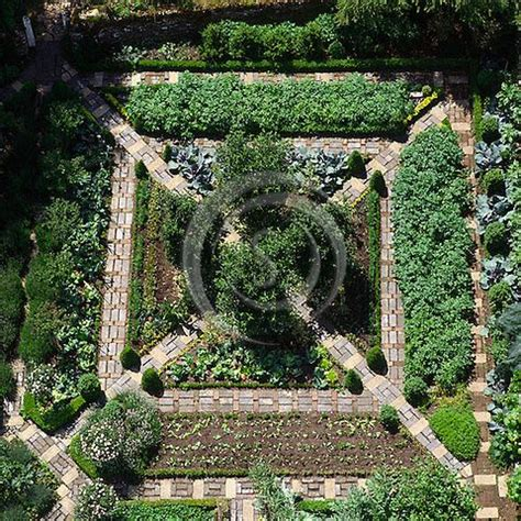 potager garden layout overhead aerial view  ornamental