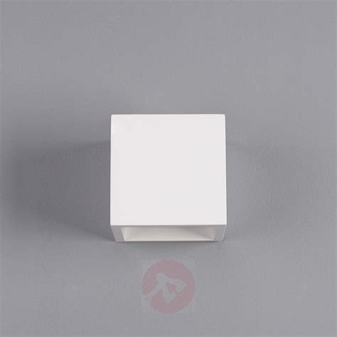 marita led wall light cube shaped plaster lights co uk