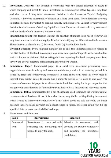 Business Letter For Class Xii cbse 2018 business studies sle paper class 12 10
