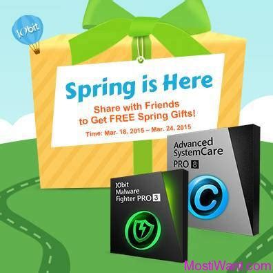 Iobit Giveaway - iobit spring giveaway advanced systemcare 8 malware fighter 3 for free most i want