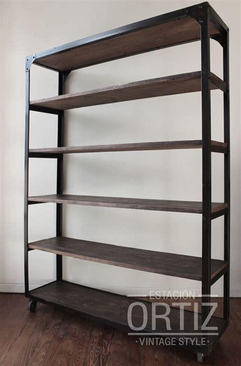 estantes de hierro estanter 237 a carrito de hierro y maderas recicladas con