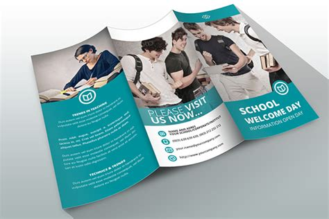 brochure template indesign indesign brochure template school on behance