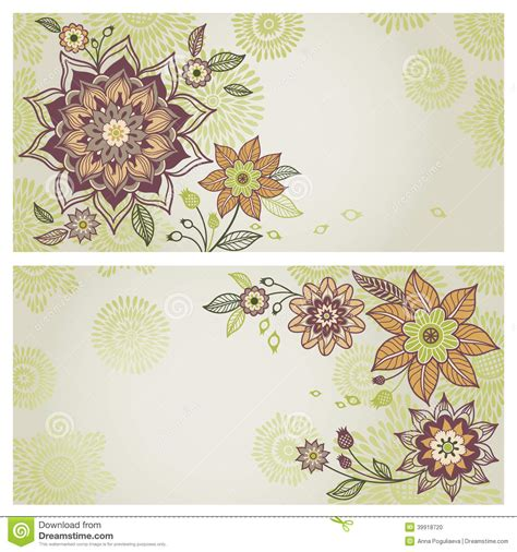 Vintage Style Photo Cards Template by Vintage Greeting Cards With Floral Motifs In East Style