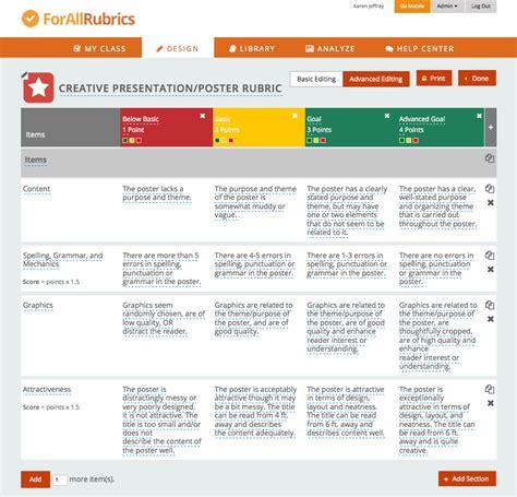 app design rubric the forallrubrics blog the rubric and badging platform