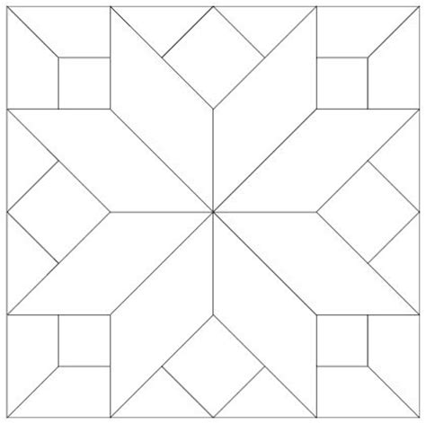 Free Patchwork Templates - 25 unique quilt block patterns ideas on