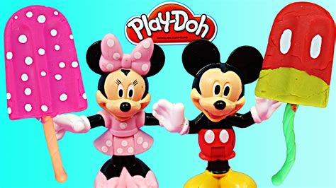 Play Doh Minnie Mouse Boutique Set Featuring Minnie Mouse play doh mickey mouse popsicle and play doh minnie mouse popsicle with scoop n treats play set
