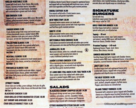 house of blues menu review crossroads at house of blues at walt disney world s downtown disney the