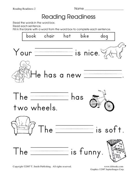 Readiness Activities Worksheets reading readiness worksheet 2 worksheet for kindergarten