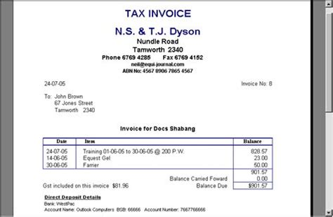 veterinary invoice template australian taxation office official site