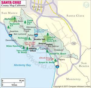 santa california map my