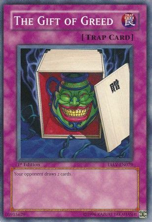 yugioh spell cards that make you draw the gift of greed taev en079 common tactical