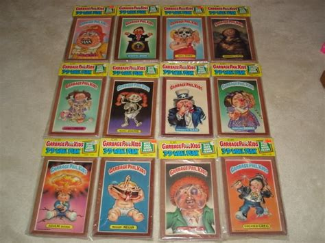 rarest and most expensive garbage pail kids cards ever made complete set of wall plaks rare garbage pail kids items