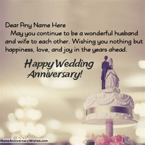 Wedding Anniversary Wishes With Name And Photo by Happy Wedding Anniversary To And With Name