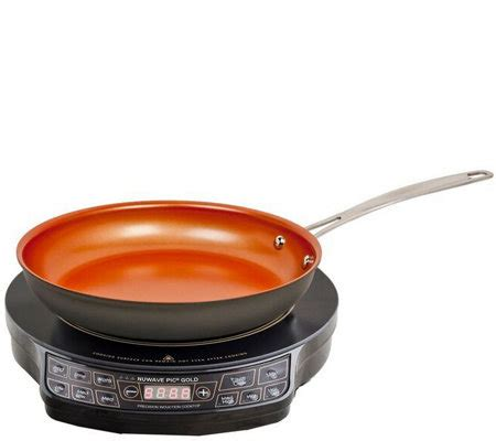 cookware for nuwave cooktop nuwave precision induction cooktop gold with frying pan