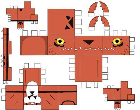 Digimon Papercraft - image digimon papercraft guilmon