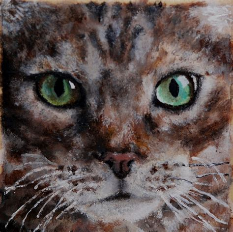 Cat Acrylic acrylic paint cat mollyredman