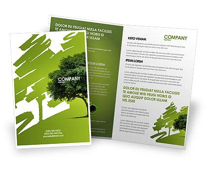 green brochure template green tree on light olive background brochure template
