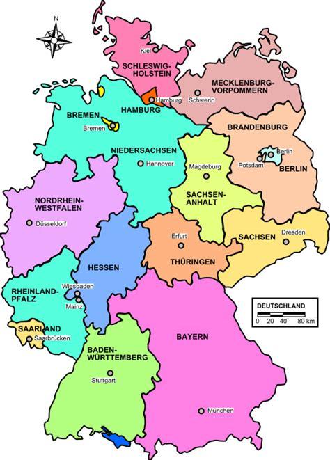 landkarte deutschland politische karte bundesl 228 nder - Deutsche Mappe