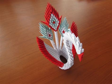 tutorial de origami 3d 3d origami peacock tutorial youtube
