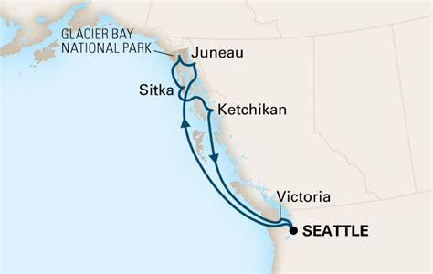 seattle to juneau map alaska cruises alaskan cruise packages america