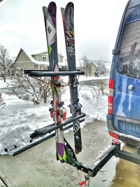 Carrying Rack by Vertical Ski Or Snowboard Carrying Hitch Rack Points Unknown