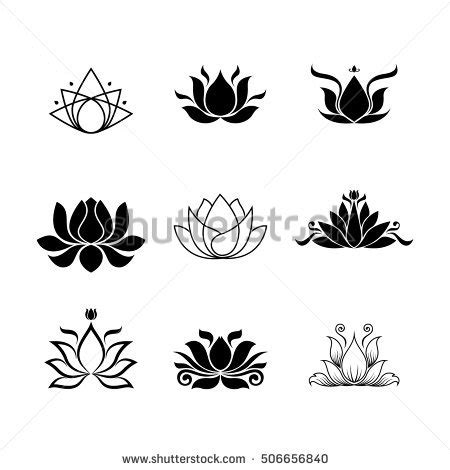 lotus flower logo stock vector 506656840 shutterstock